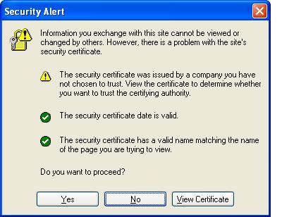 SSLSecurity Warning